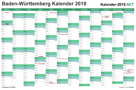Baden-Württemberg Kalender 2019 Vorschau