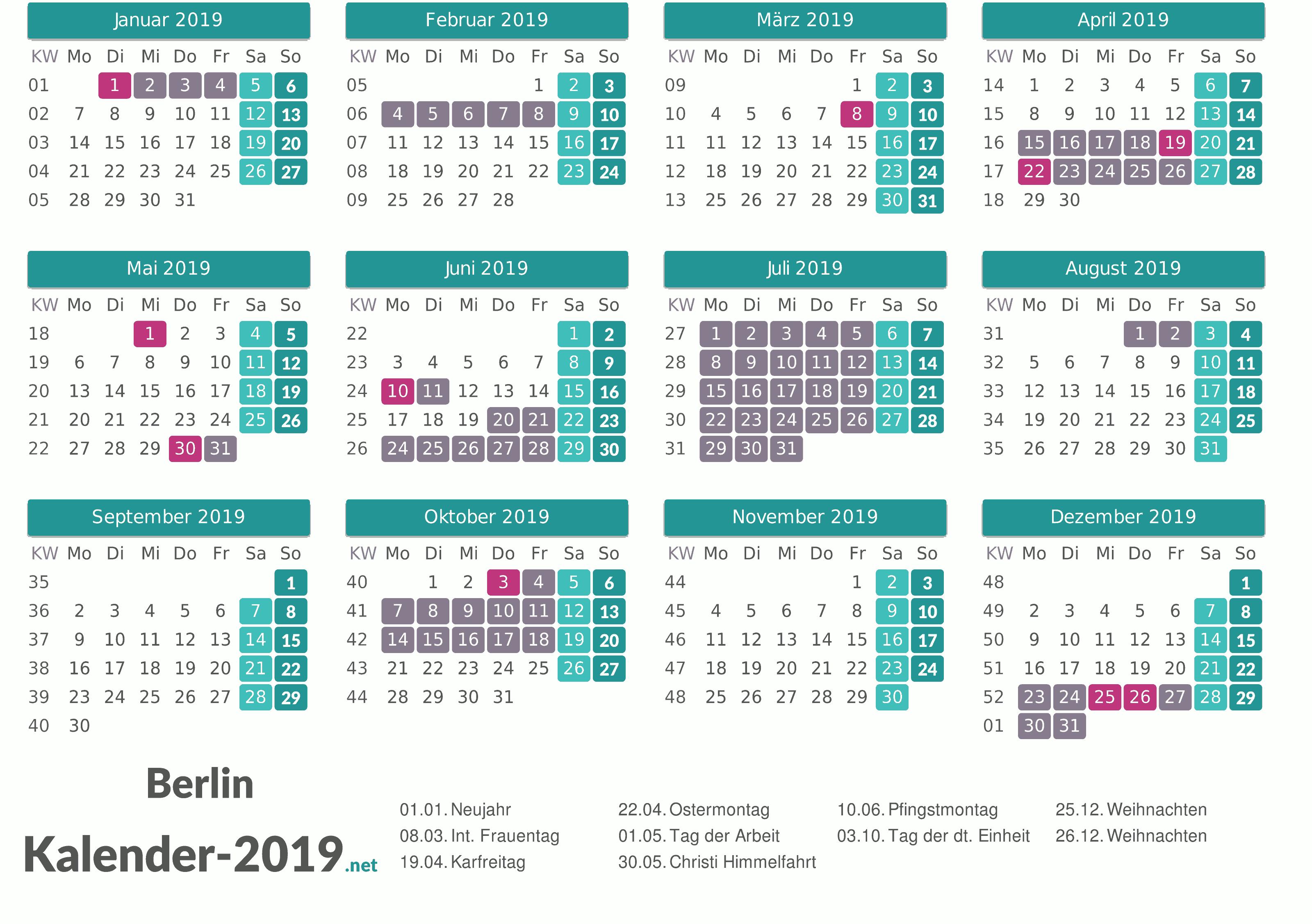 Weihnachten 2019 Berlin.Ferien Berlin 2019 Ferienkalender übersicht