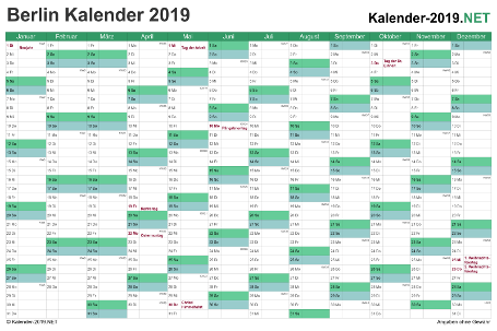 Berlin Kalender 2019 Vorschau