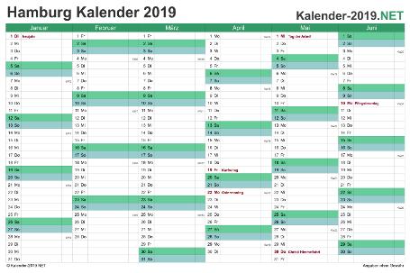 Hamburg Halbjahreskalender 2019 Vorschau