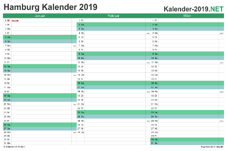 Hamburg Quartalskalender 2019 Vorschau