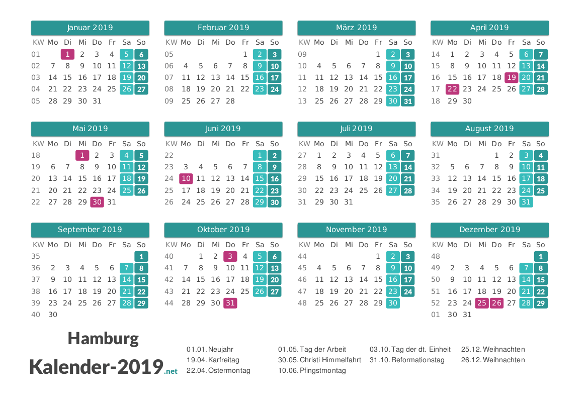 Feiertage Hamburg 2019