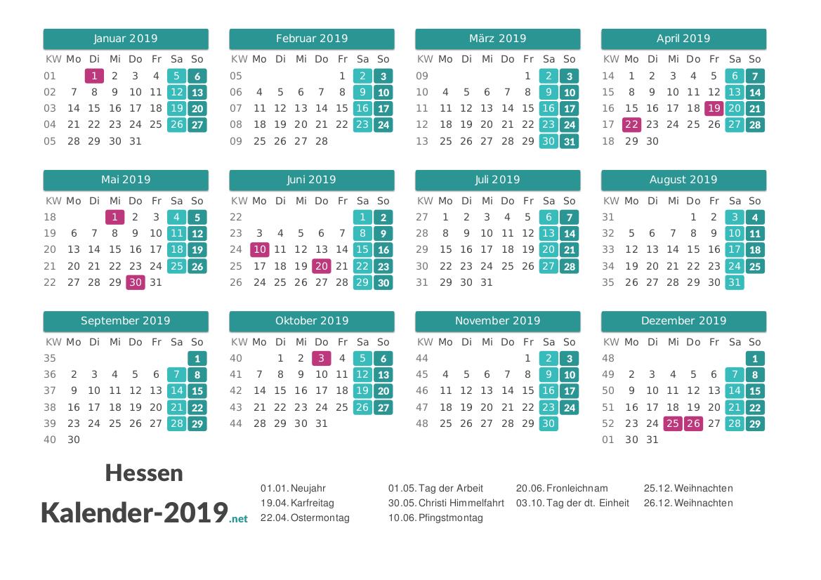 Arbeitstage 2019 Hessen