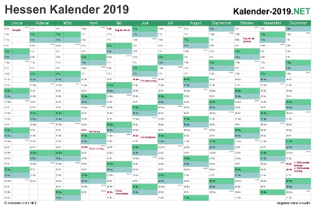 Kalender 2019 Vorschau