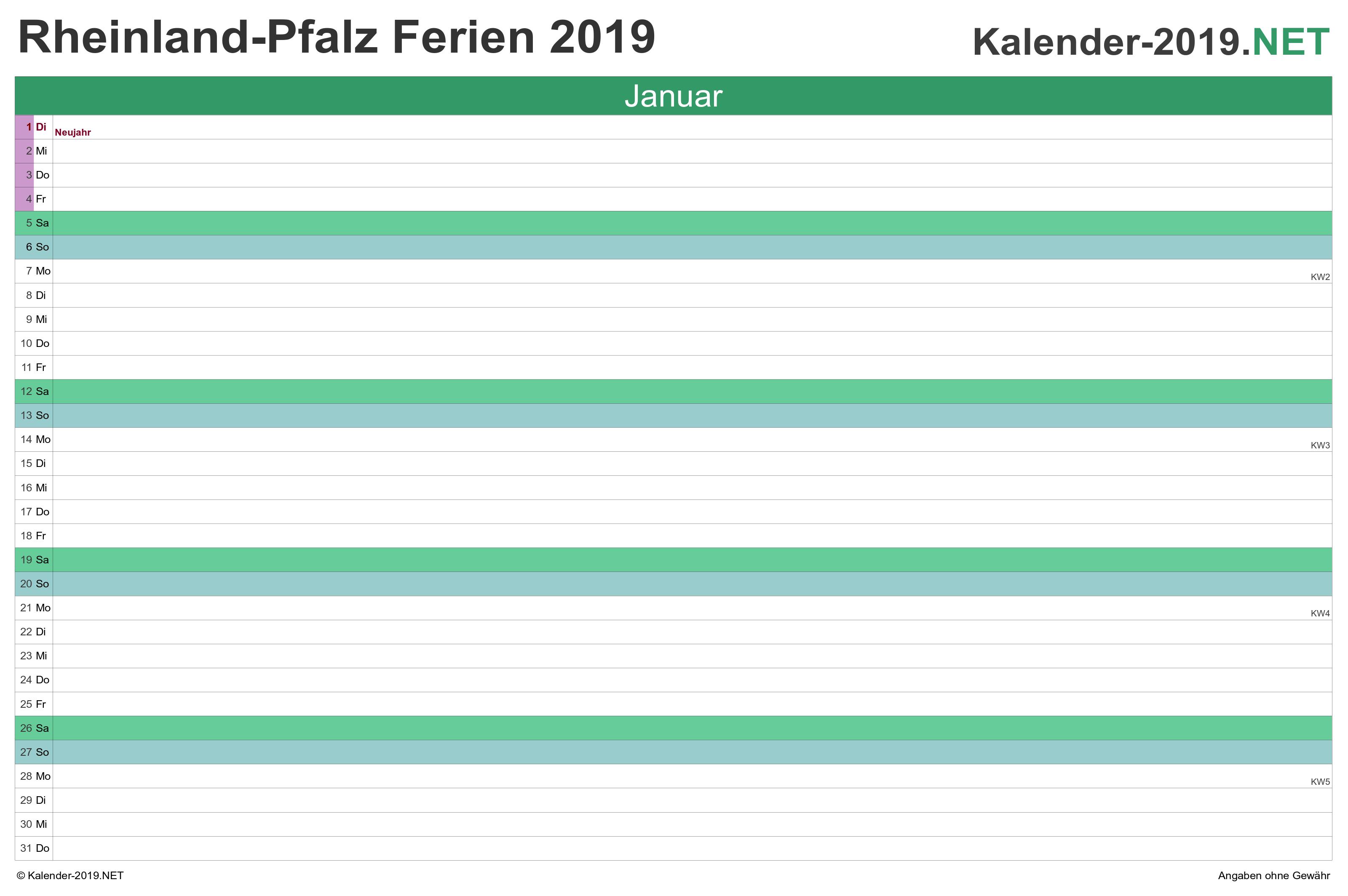 osterferien rheinland-pfalz 2019