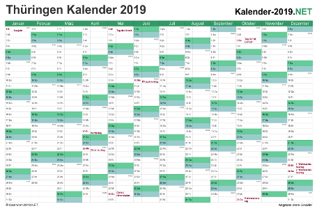 Thüringen Kalender 2019 Vorschau